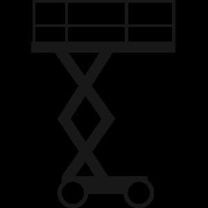 Transporte de plataforma de tijera