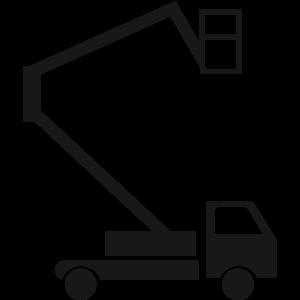 Transporte de plataforma sobre camion