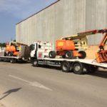 camion para transportar maquinaria